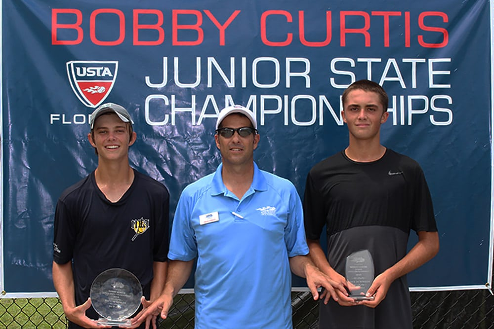 Michael Heller (left) after winning the Boys' 16s title last year