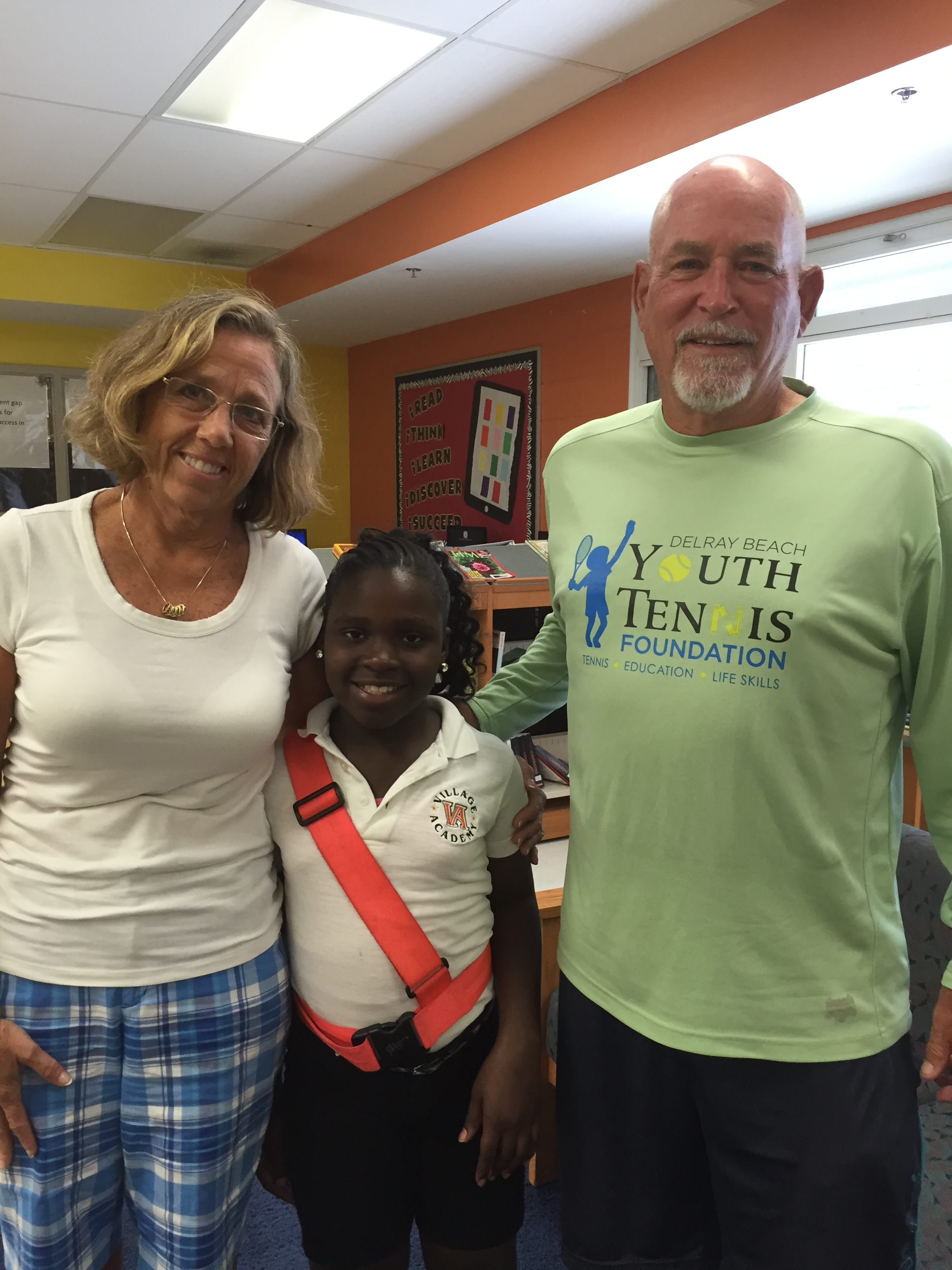 lake worth s cadet wins usta national njtl arthur ashe essay from left life skills teacher diane rose wiltchenie cadet and foundation director of