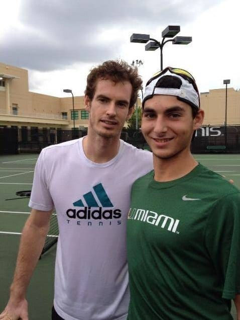 Masciale and Andy Murray, who has a training base in the Miami area