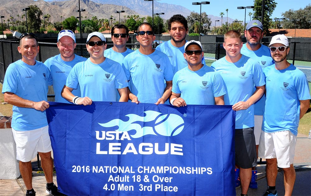 The USTA League Nationals men's 4.0 3rd place finishers from Doral
