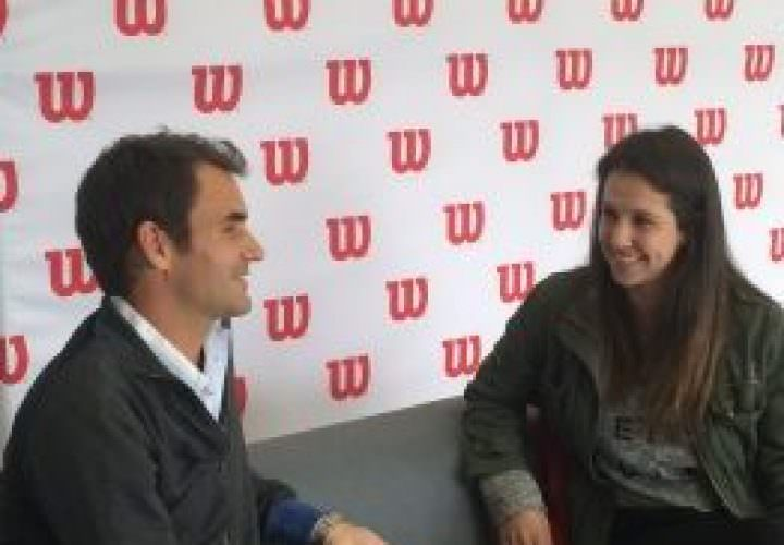 Nina Pantic and Roger Federer