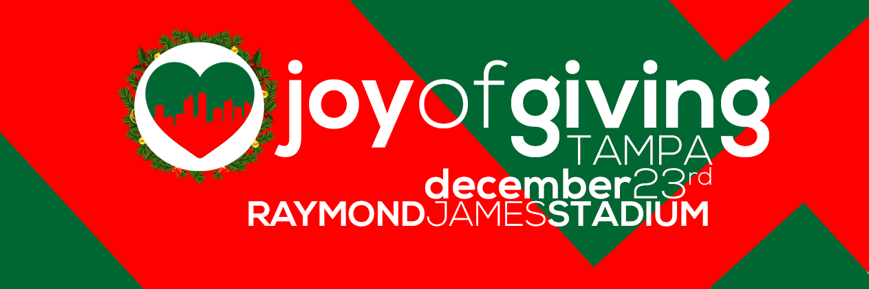 Volunteers needed for tampa joy of giving dec 23 charity event give the gift of your time this holiday season by volunteering on dec 23 2017 at the joy of giving tampa at raymond james stadium where from 10 am to 4 negle Choice Image