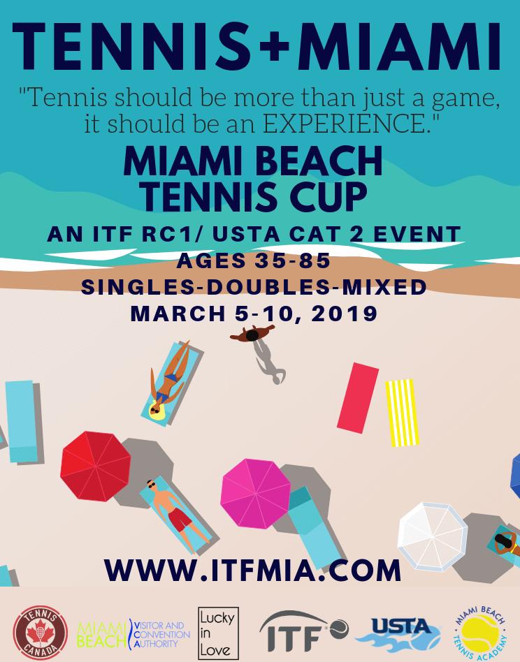 Calendario Itf.Itf Usta Miami Beach Tennis Cup For Ages 35 85 In March