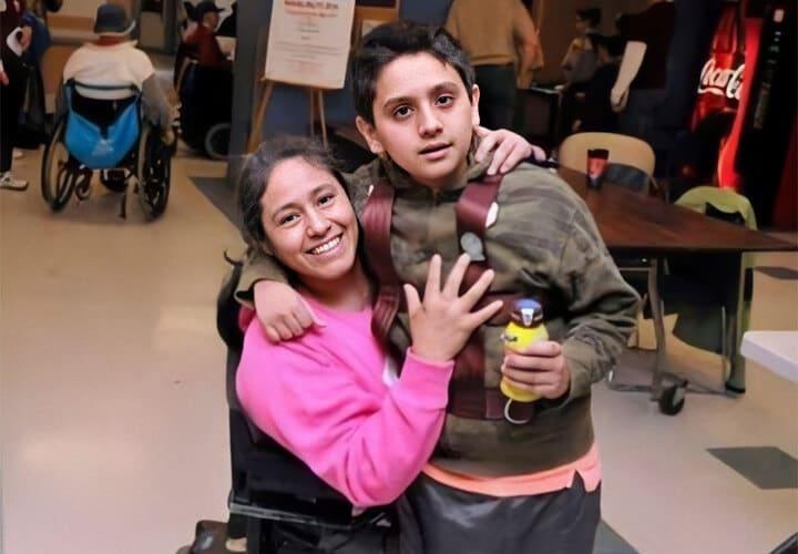 Juana Lopez and her eldest son