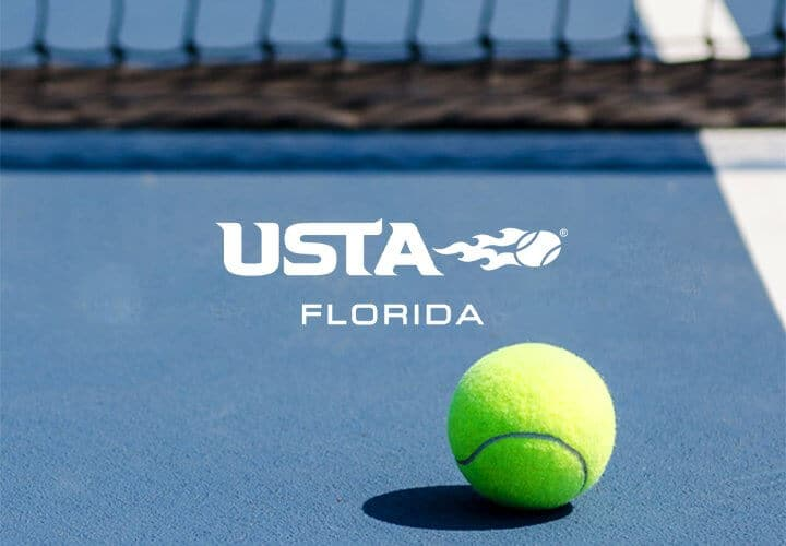 USTA Florida logo with a net and tennis ball