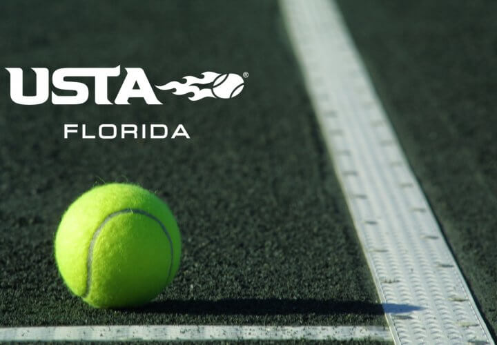 USTA Florida logo with ball on court