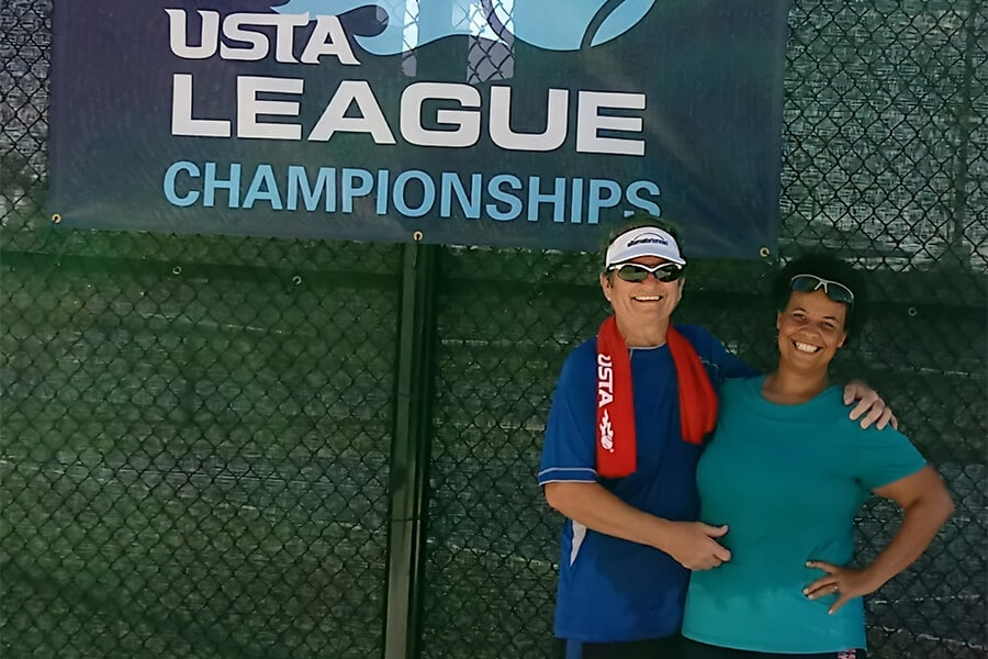 Diane and Heather in Orlando at a Sectionals Event in 2017