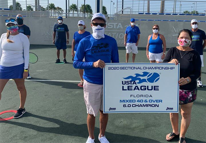 2020 Mixed 40 & Over 6.0 Champions - Volusia County USTA Leagues