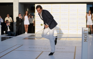 "Moet & Chandon ""Tiny Tennis"" With Roger Federer"