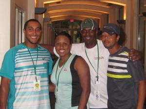 Chanda Rubin and fellow former coaches at the USTA Florida Diversity Camp
