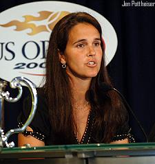 U.S. Fed Cup Captain Mary Joe Fernandez