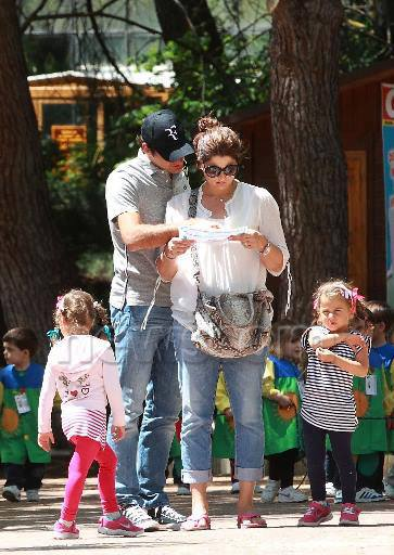 The Federer family last year visiting the zoo