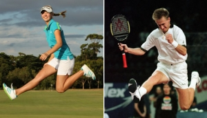 "Jessica Korda celebrated her first LPGA title by imitating her father's famous ""scissor kick"""