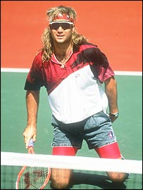 The mid-'80s saw young pros like Andre Agassi making jumps straight to the pros and making aforethought impossible fashion combinations