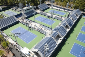 New practice court seating at the US Open